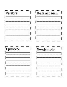 Vocabulary Practice En Español