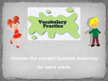 Vocabulary Practice Game
