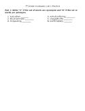 Vocabulary Practice- List 1