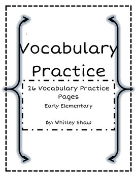 Vocabulary Practice Packet