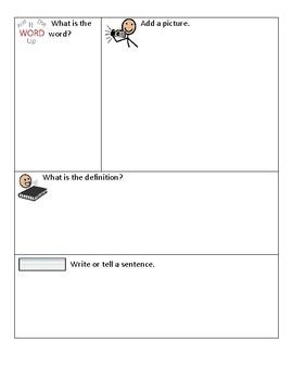 Vocabulary Practice Sheet