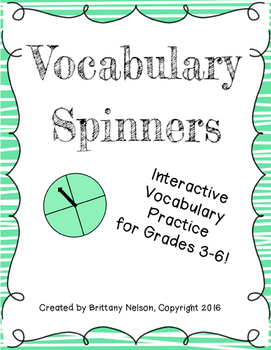Vocabulary Practice Spinners