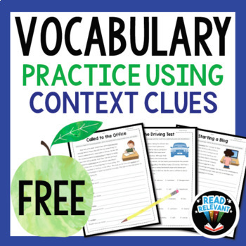 Vocabulary: Practice Using Context Clues FREEBIE