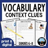 Context Clues Reading Comprehension | Vocabulary Context Clues Activities 6-9