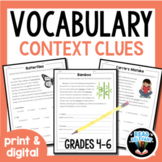 Vocabulary: Practice Using Context Clues Worksheets Grades 4-6
