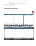 Vocabulary Practice Using Instagram Template