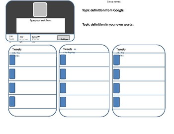 Vocabulary Practice Using Twitter Template