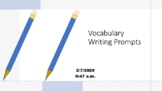 Vocabulary Practice With Writing Prompts