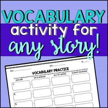Vocabulary Activity for ANY Story/Novel Unit