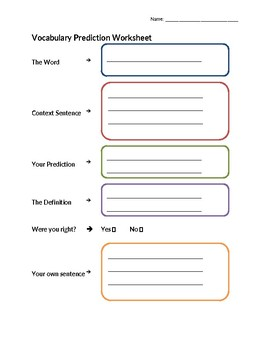Vocabulary Prediction Activity