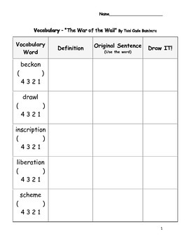 Vocabulary, Predictions, and Opinions Worksheets