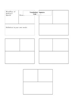 Vocabulary Preview, Practice and Review Activities