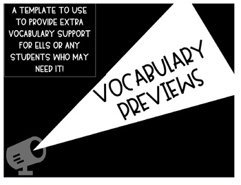 Vocabulary Preview Template
