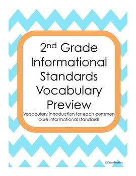 Vocabulary Previews for Informational Text Standards
