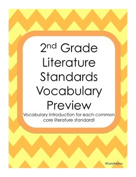 Vocabulary Previews for Literature Standards