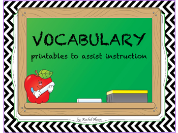 Vocabulary Printables