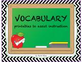 Vocabulary Printables