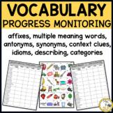 Vocabulary Progress Monitoring Probes K-6