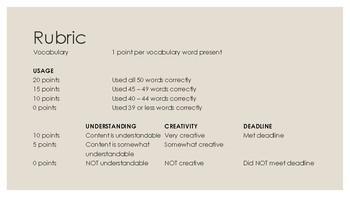 Vocabulary Project