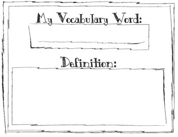Vocabulary Project Template