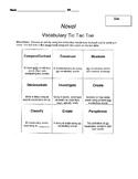 Vocabulary Project - Tic Tac Toe