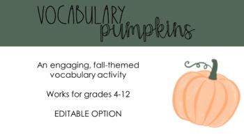 Vocabulary Pumpkins