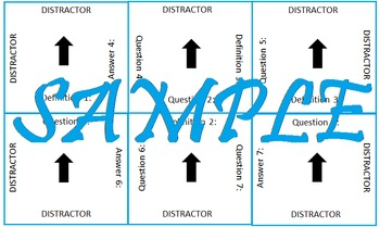 Vocabulary Matrix Template