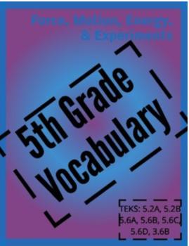 Vocabulary Puzzle: ALL 5th Grade Science BUNDLE ENGLISH