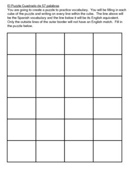 Vocabulary Puzzle Cube