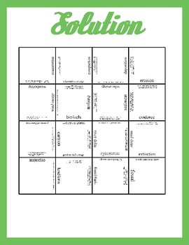 Vocabulary Puzzle: Earth Science