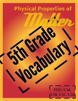 Vocabulary Puzzle Physical Properties of Matter ENGLISH AND SPANISH BUNDLE