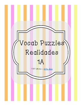 Vocabulary Puzzle (Realidades I - 1A)