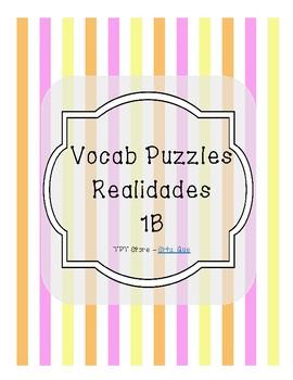 Vocabulary Puzzle (Realidades I - 1B)