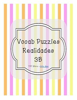 Vocabulary Puzzle (Realidades I - 3B)