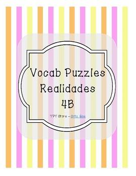 Vocabulary Puzzle (Realidades I - 4B)