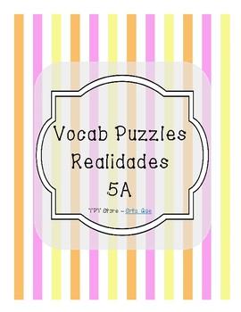 Vocabulary Puzzle (Realidades I - 5A)