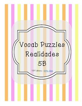 Vocabulary Puzzle (Realidades I -  5B)