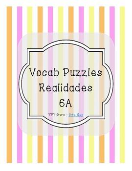 Vocabulary Puzzle (Realidades I - 6A)