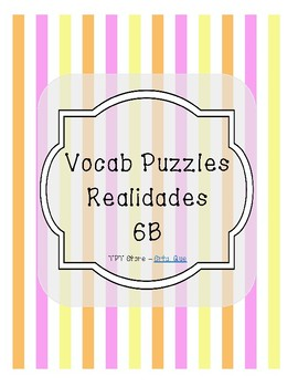 Vocabulary Puzzle (Realidades I - 6B)