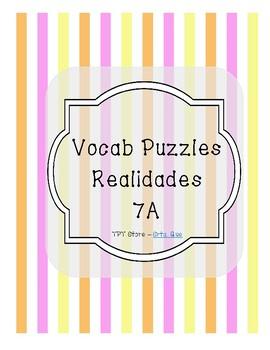Vocabulary Puzzle (Realidades I - 7A)