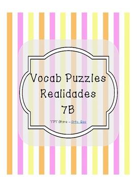 Vocabulary Puzzle (Realidades I - 7B)