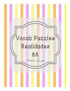 Vocabulary Puzzle (Realidades I - 8A)