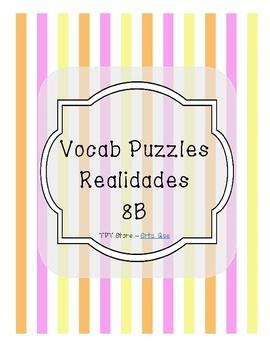 Vocabulary Puzzle (Realidades I - 8B)