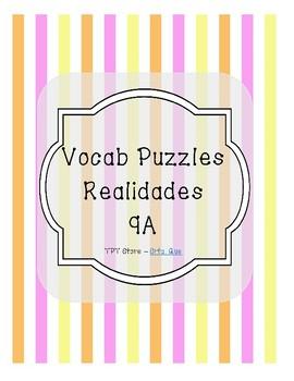 Vocabulary Puzzle (Realidades I - 9A)