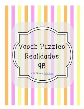 Vocabulary Puzzle (Realidades I - 9B)