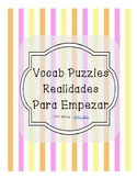 Vocabulary Puzzle (Realidades I - Para Empezar)