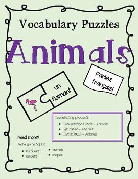 Vocabulary Puzzles - Animals