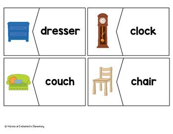 Vocabulary Puzzles: Around the House Set