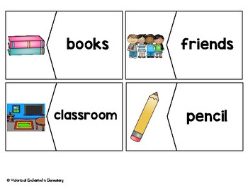 Vocabulary Puzzles: Back to School Set