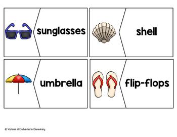 Vocabulary Puzzles: Beach Set